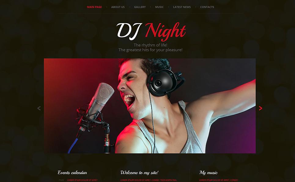 Responsive Website template over DJ  New Screenshots BIG