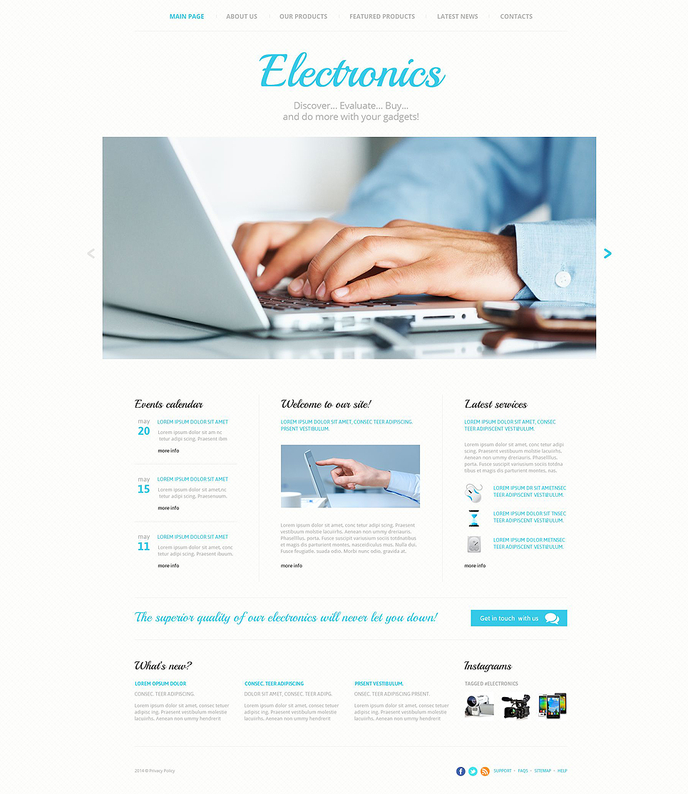 Consumer Electronics template illustration image