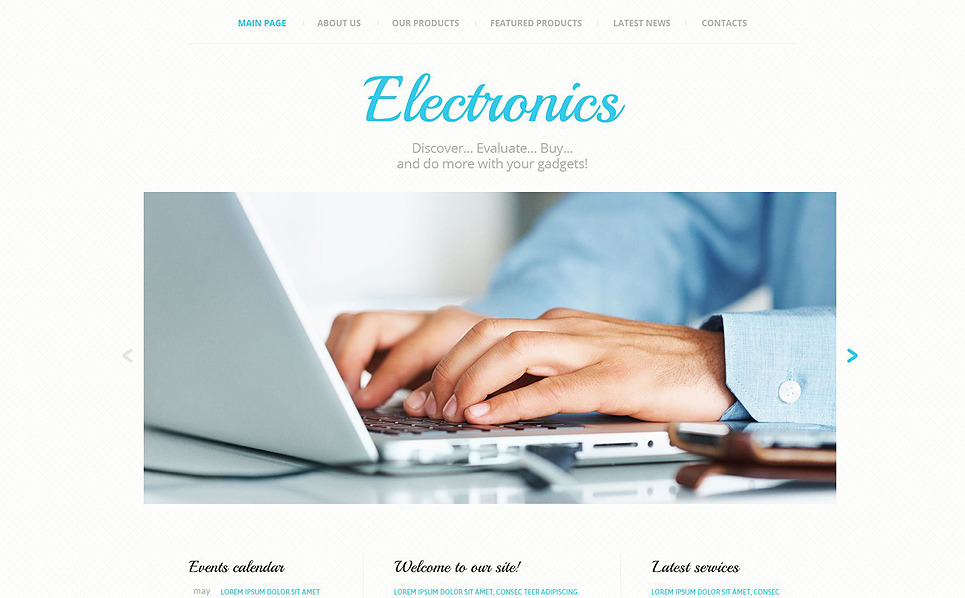 Responsive Website template over Elektronica New Screenshots BIG