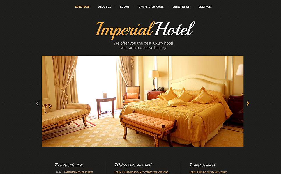 Modello Siti Web Responsive #52982 per Un Sito di Hotel New Screenshots BIG