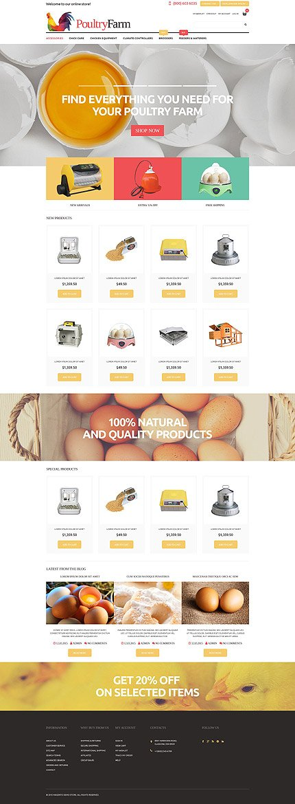 Magento Theme/Template 52990 Main Page Screenshot