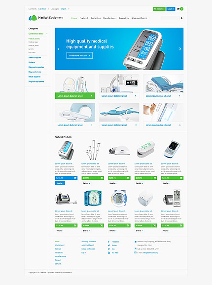 osCommerce Template 52992 Main Page Screenshot