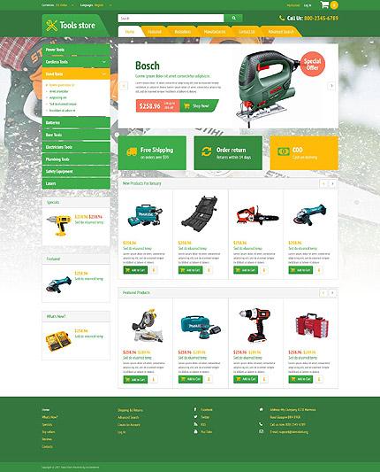 osCommerce Template 52993 Main Page Screenshot