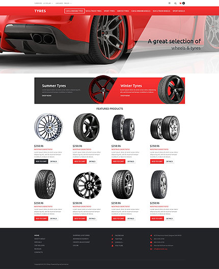 osCommerce Template 52994 Main Page Screenshot