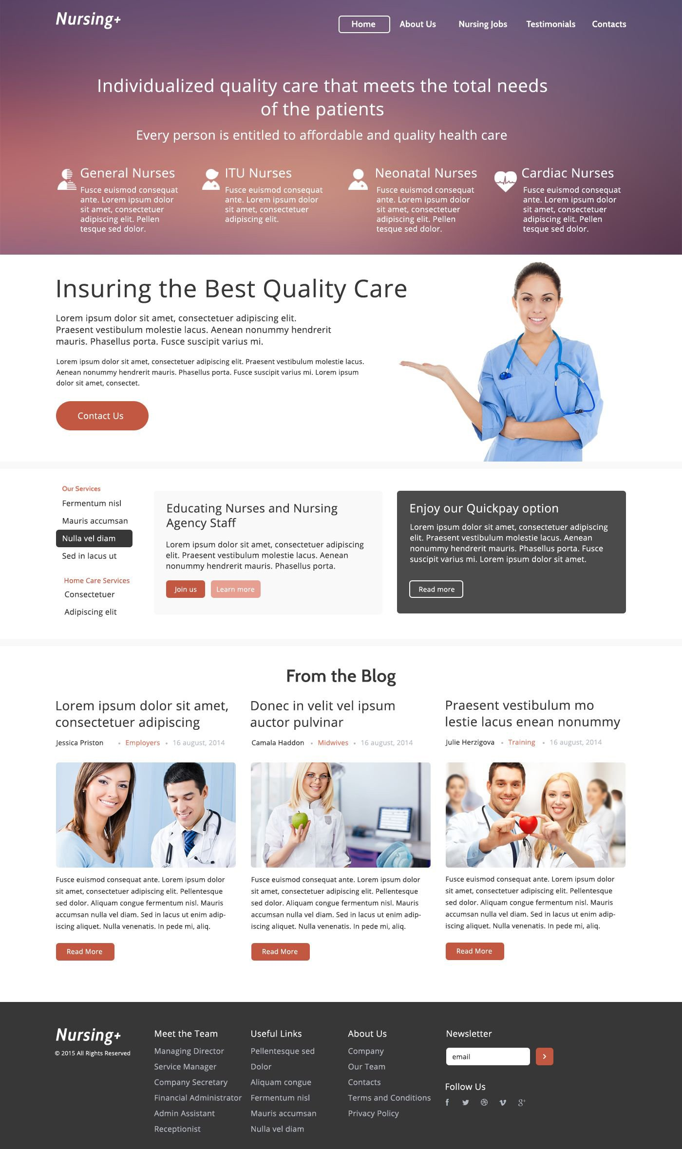 The Nursing Agency Bootstrap Design 52996, one of the best website templates of its kind (medical, most popular), also known as nursing agency website template, services website template, providing website template, certified caregivers website template, clients website template, looking care and related with nursing agency, services, providing, certified caregivers, clients, looking care, etc.