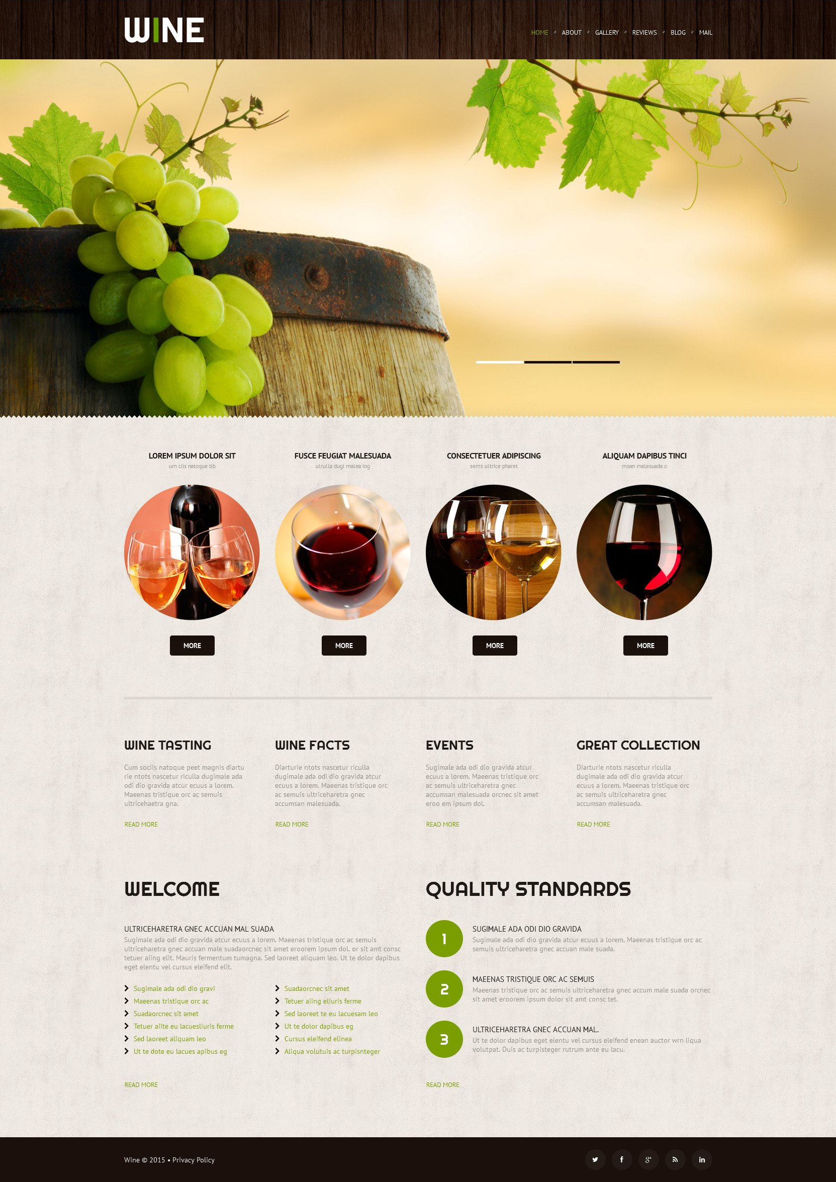 The Wine Club Collection Store WordPress Design 52998, one of the best WordPress themes of its kind (food & drink, most popular), also known as Wine club collection store WordPress template, production WordPress template, grape WordPress template, collection WordPress template, red WordPress template, white rose WordPress template, bubbly WordPress template, kosher WordPress template, Champagne dry WordPress template, traditions WordPress template, cabernet WordPress template, sauvignon WordPress template, chardonnay WordPress template, Muscat Pinot Noir bottles WordPress template, cork WordPress template, Bordeaux Bourgogne glass WordPress template, taste restaurant WordPress template, alcohol WordPress template, bottle WordPress template, celebration WordPress template, barrels WordPress template, CRE Loaded site and related with Wine club collection store, production, grape, collection, red, white rose, bubbly, kosher, Champagne dry, traditions, cabernet, sauvignon, chardonnay, Muscat Pinot Noir bottles, cork, Bordeaux Bourgogne glass, taste restaurant, alcohol, bottle, celebration, barrels, CRE Loaded site, etc.