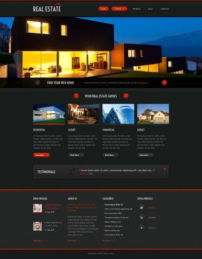 Адаптивный HTML шаблон №52976 на тему агентство недвижимости