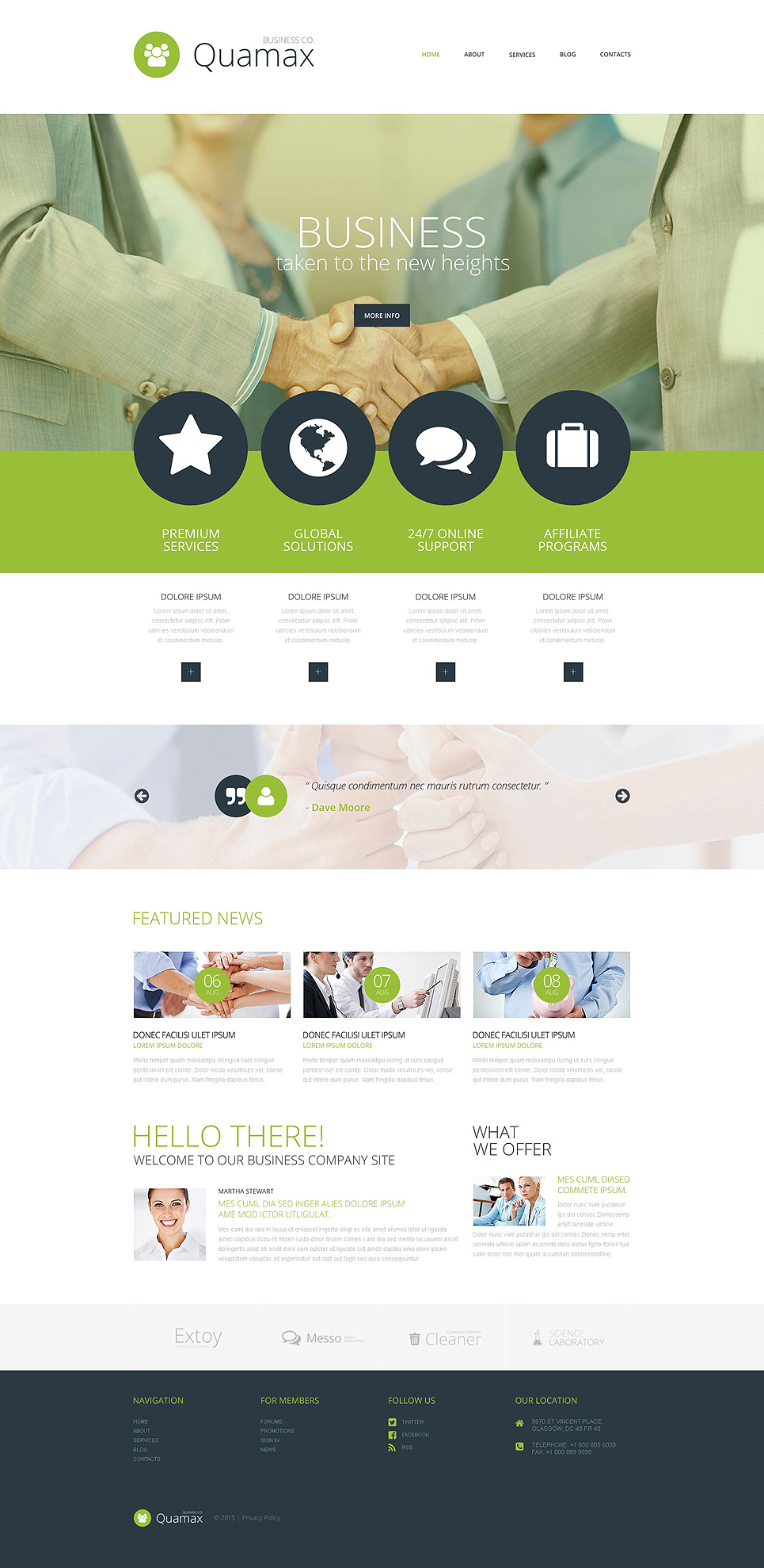 Адаптивный шаблон сайта на тему бизнес и услуги #52950
