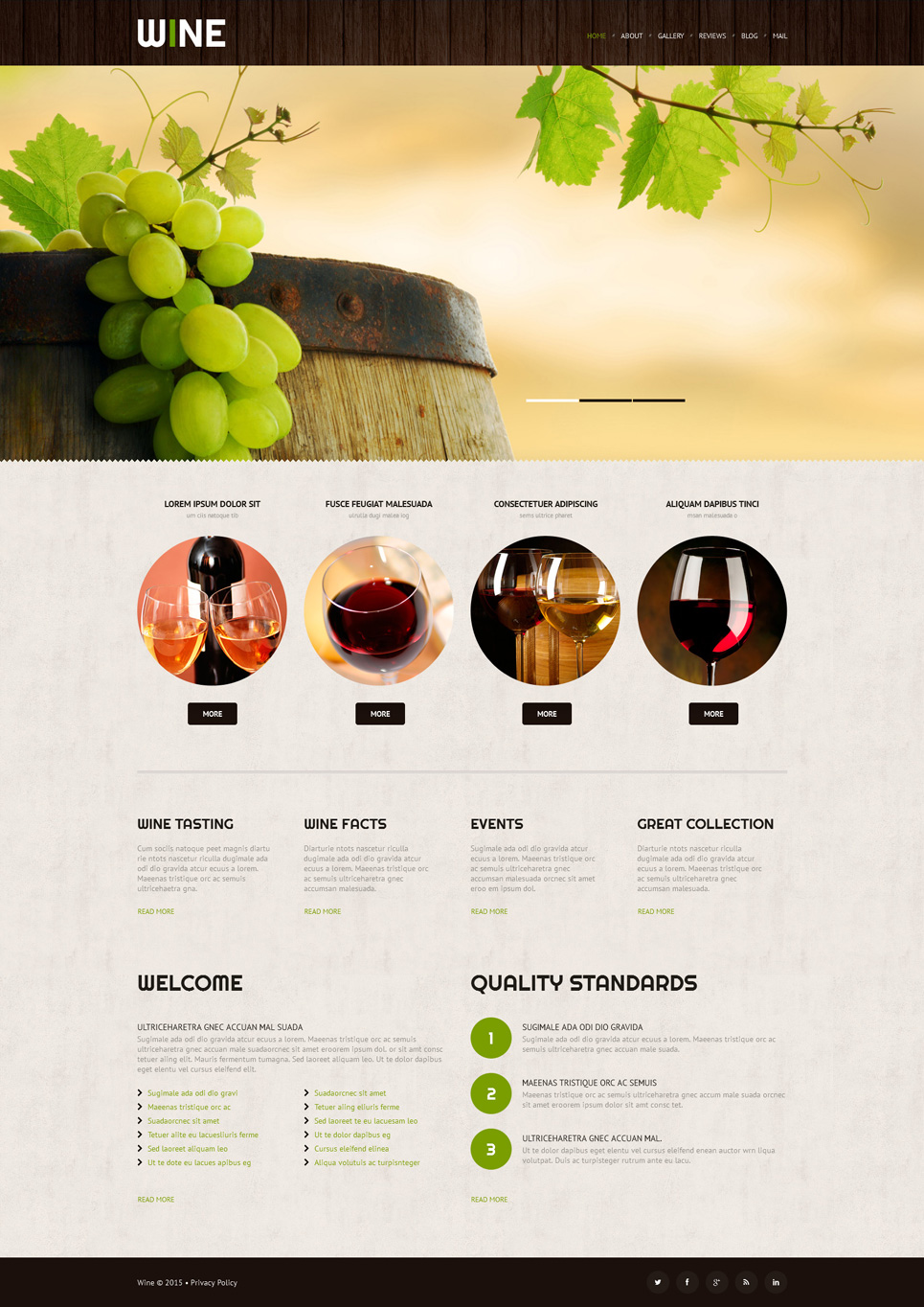 Адаптивный шаблон сайта на тему вино #52998