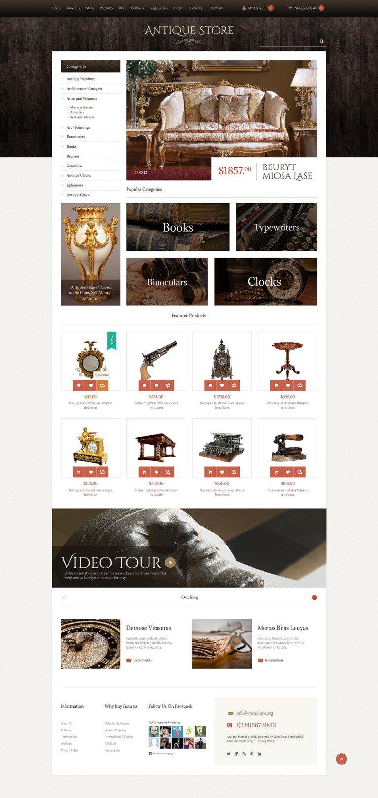 Antique Items WooCommerce Theme New Screenshots BIG
