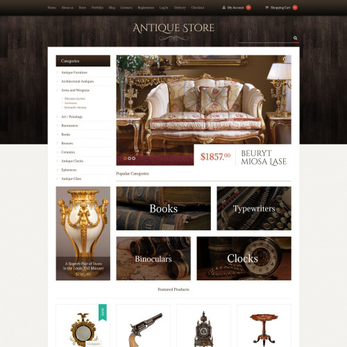 Antique Store - WooCommerce Template based on Bootstrap