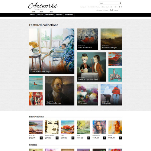Artworks - Magento Template based on Bootstrap