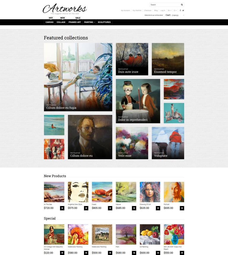 Art store responsive magento theme art store responsive magento theme new screenshots big toneelgroepblik Images