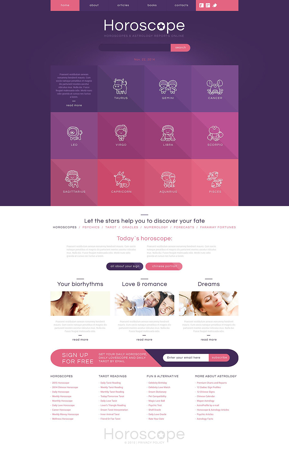 Astrology Responsive Website Template New Screenshots BIG