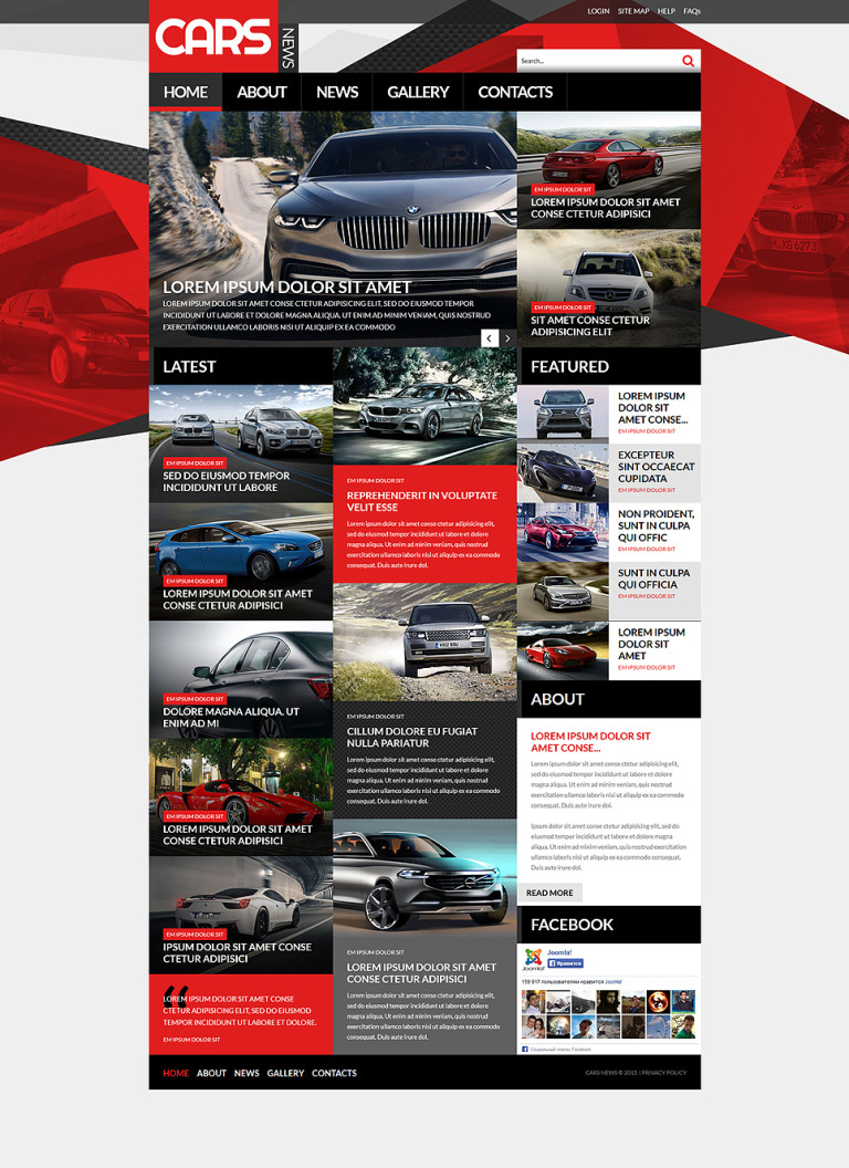Automobile Joomla Template New Screenshots BIG