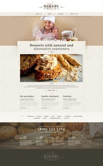 Bakery Responsive Website Template #52920