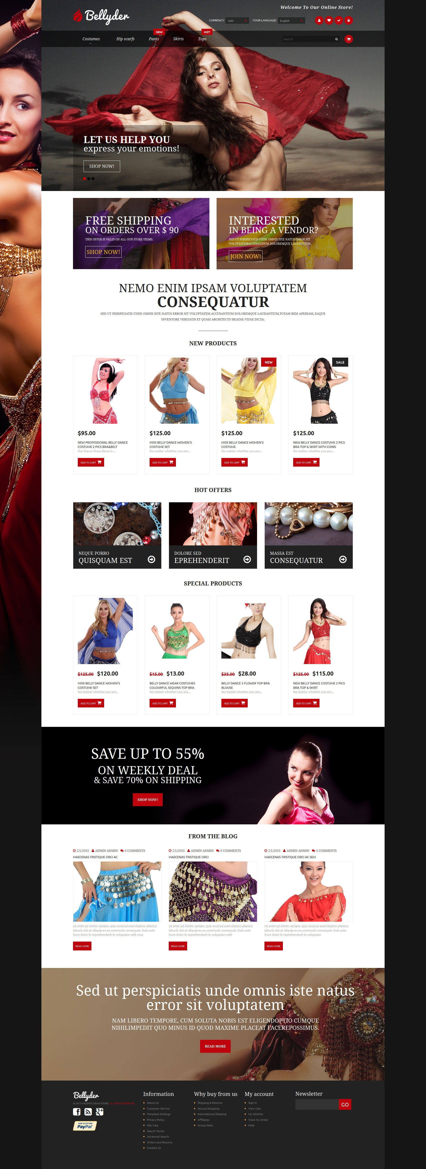 Belly Dance Outfit Magento Theme