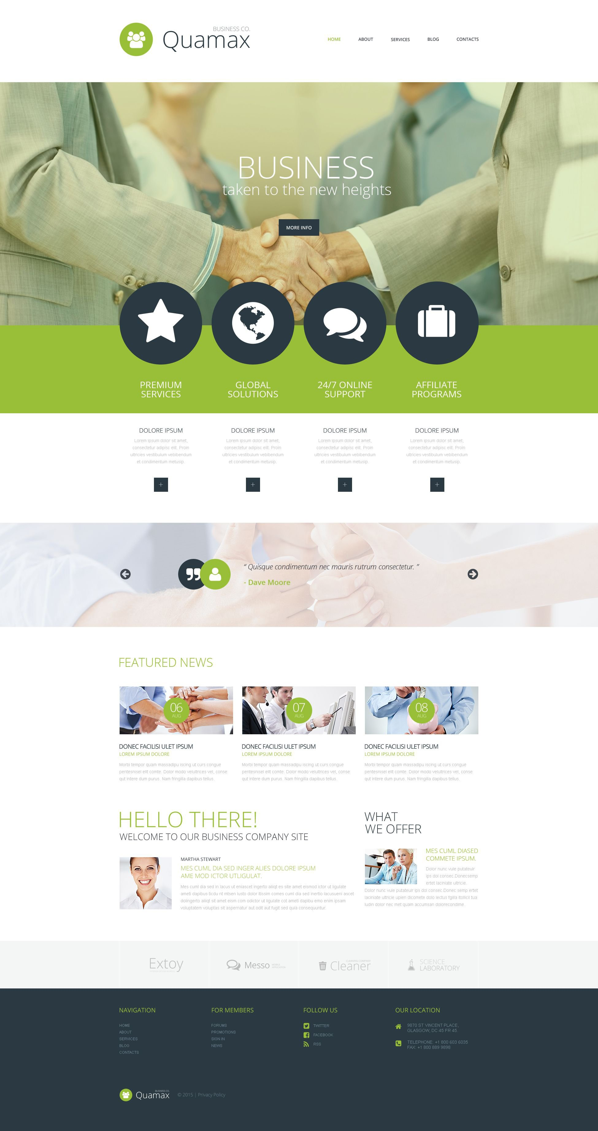 Business Co WordPress Theme - screenshot