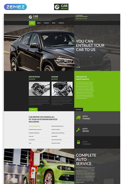 Flexível template Web №52961 para Sites de Concerto de Carros