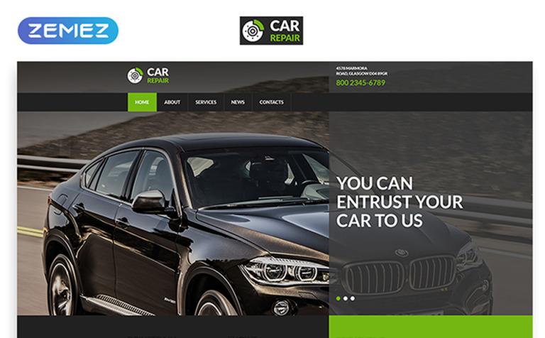 Car Repair Service Website Template