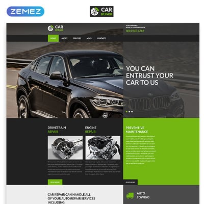 32 best car repair website templates - Site internet garage automobile ...