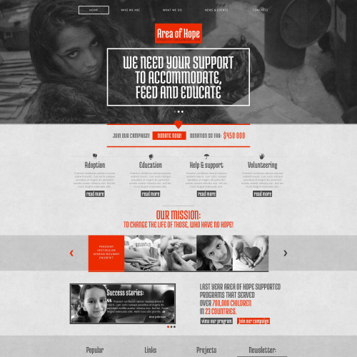 Area Of Hope - Responsive Drupal Template