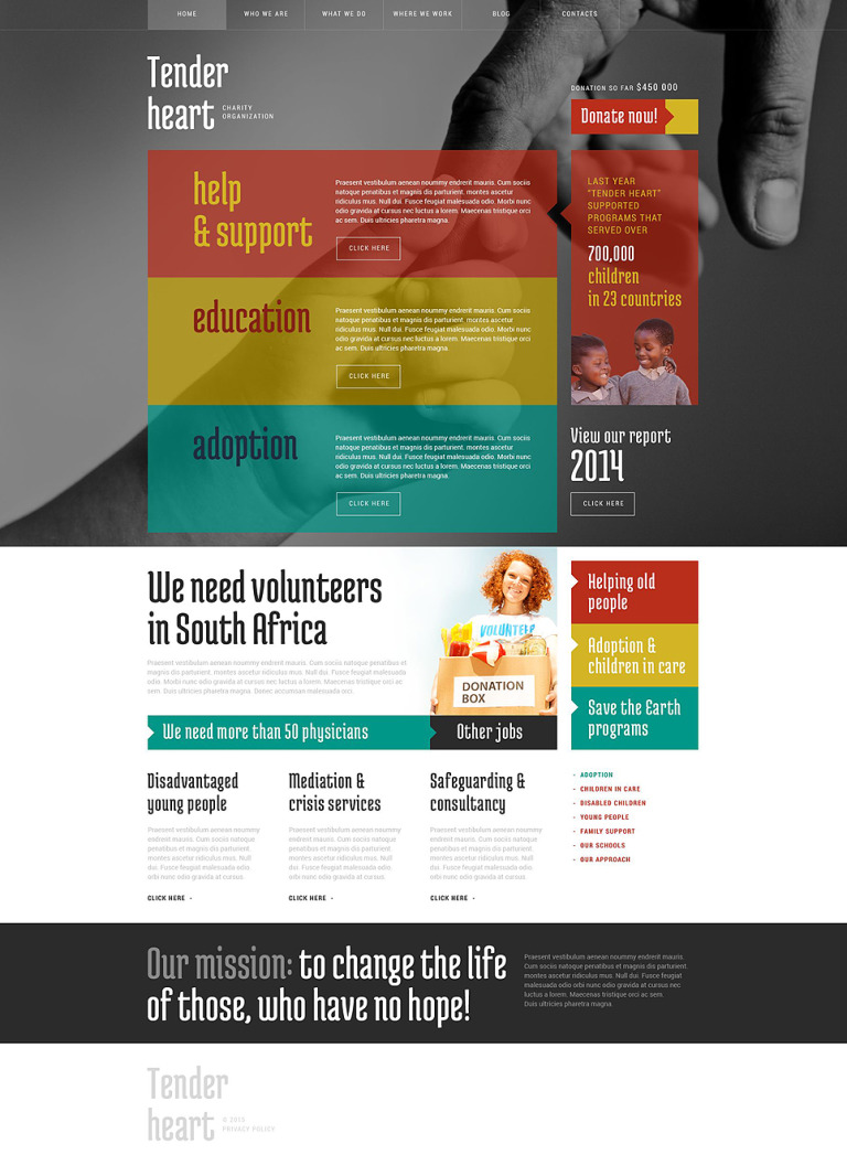 Charity WordPress Theme New Screenshots BIG