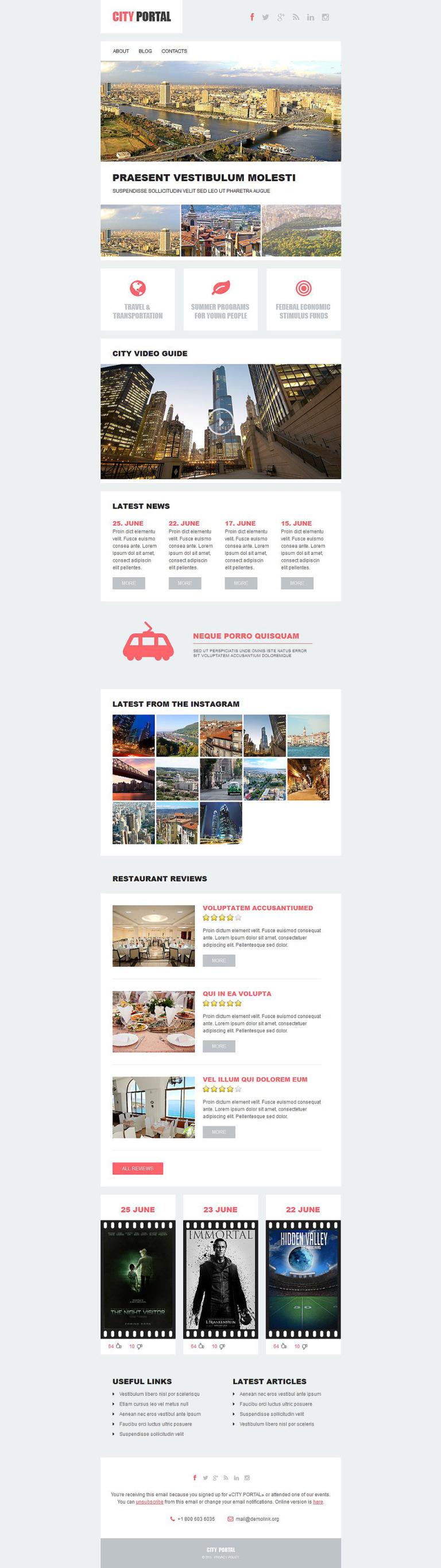 City Portal Responsive Newsletter Template New Screenshots BIG