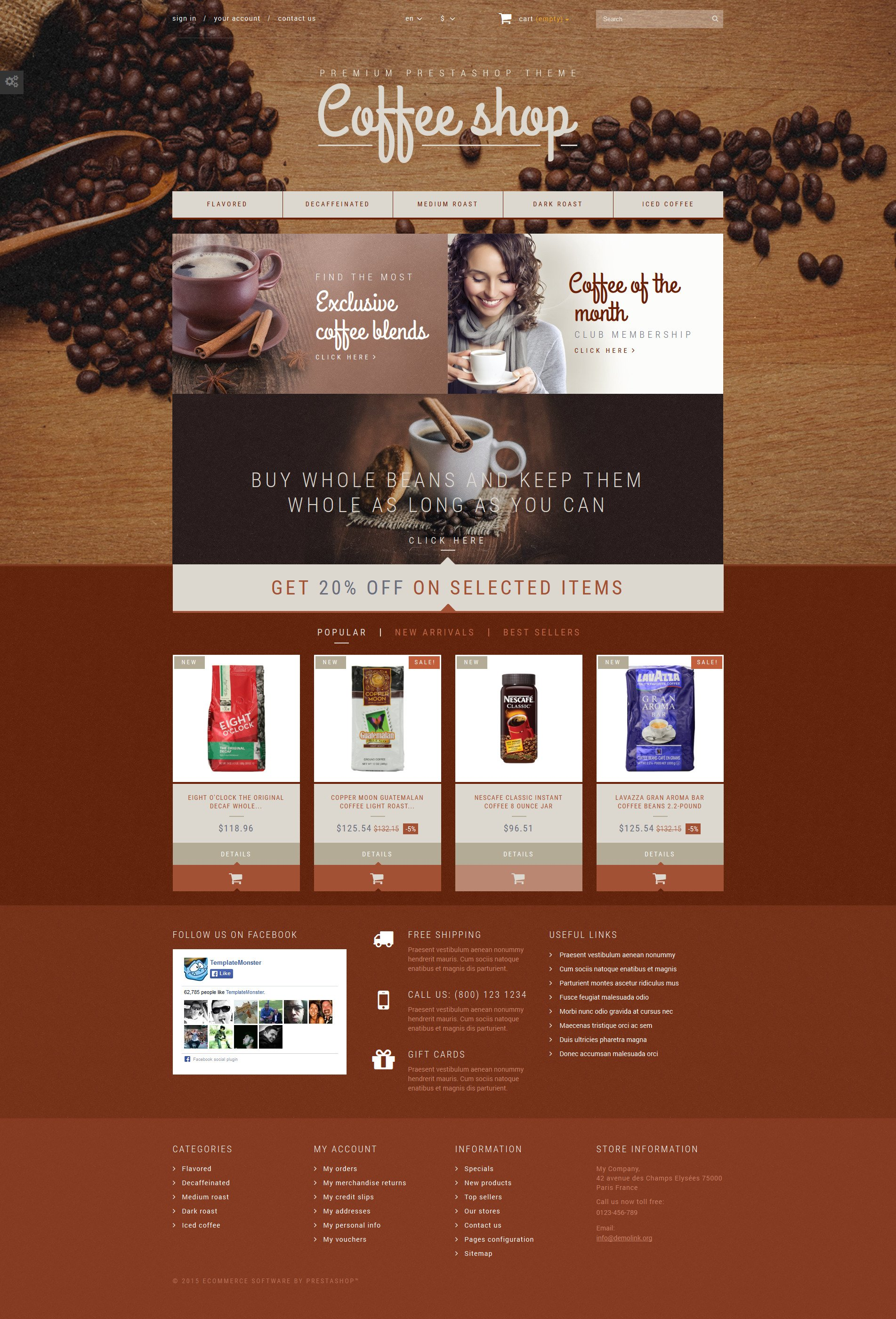 Coffee Aroma PrestaShop Theme