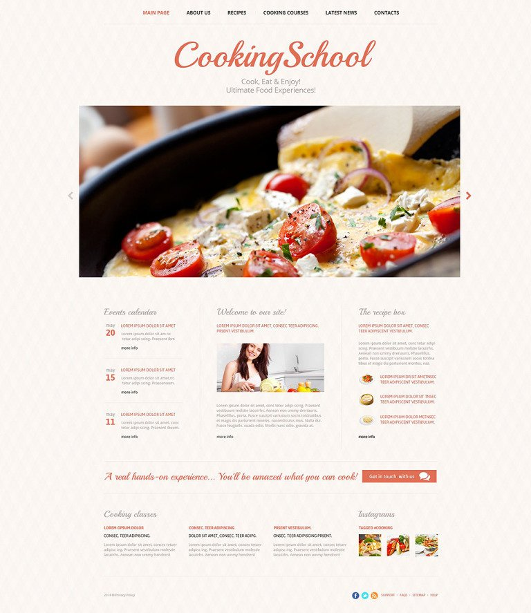 Culinary Skills Website Template New Screenshots BIG