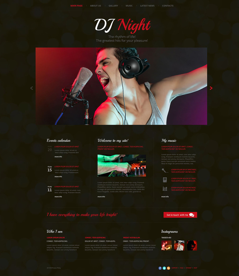 DJ Superstar Website Template New Screenshots BIG
