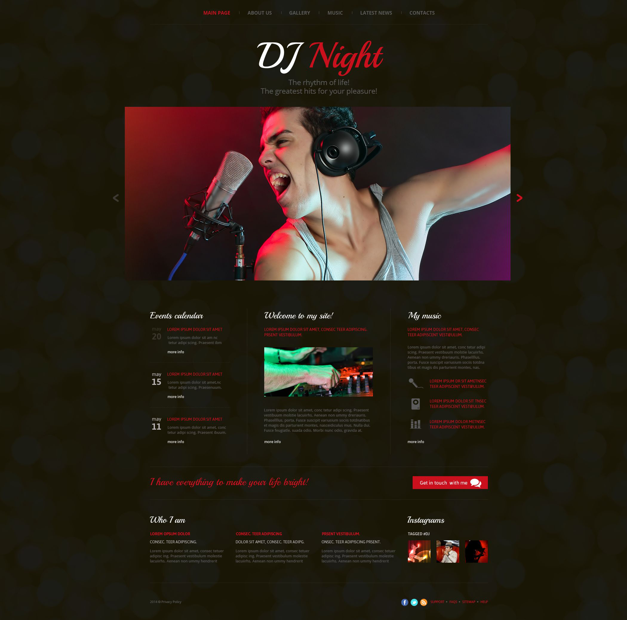 dj website templates - Selo.l-ink.co