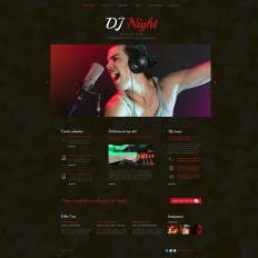 DJ Responsive Website Template - Dj website templates