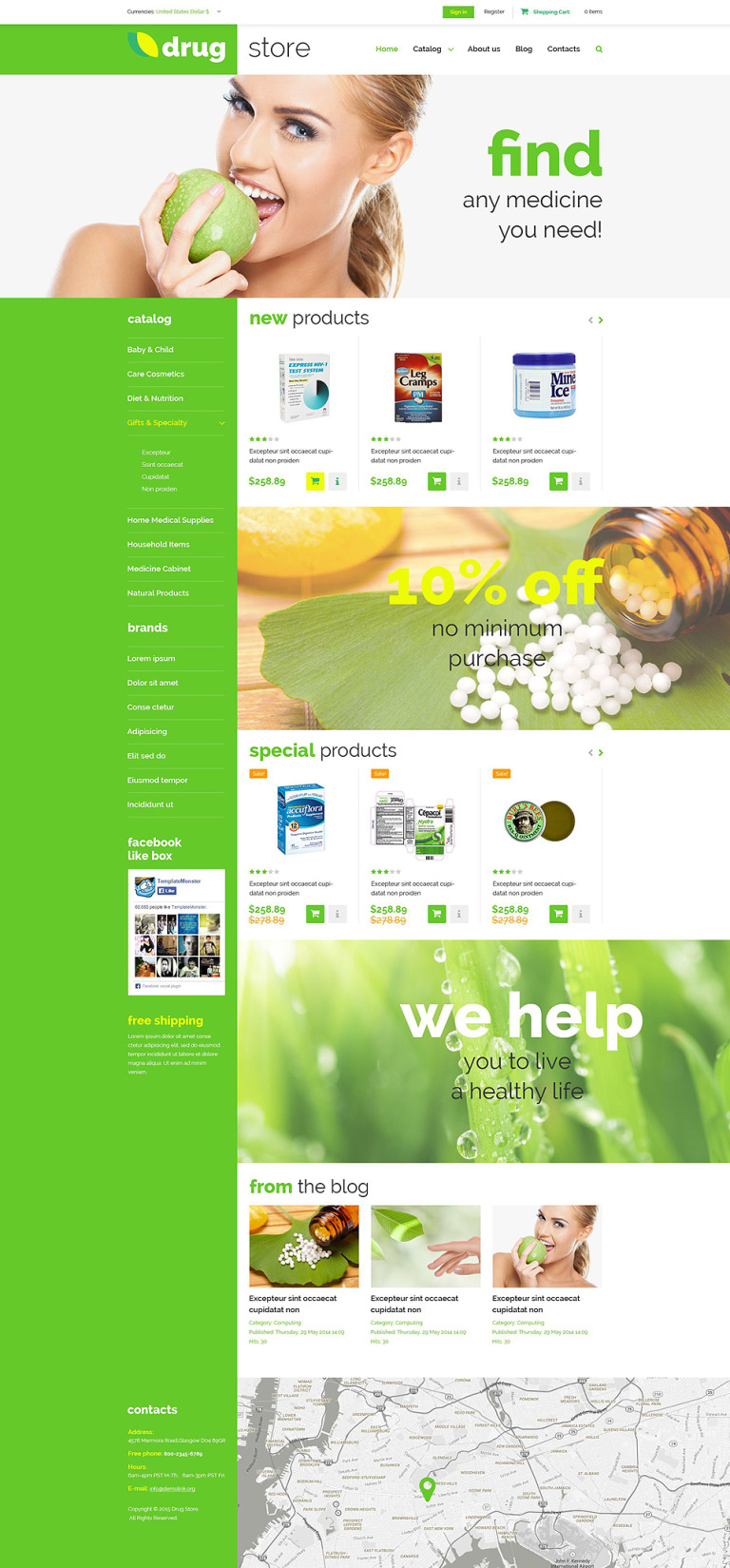 Drugstore VirtueMart Template New Screenshots BIG