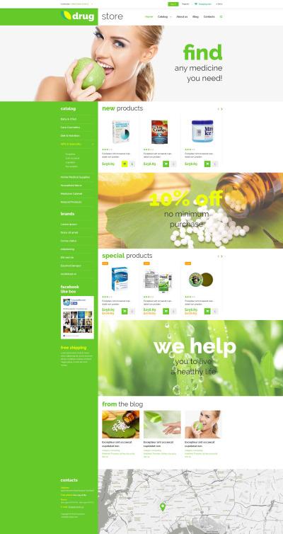 Drugstore VirtueMart Template #52955