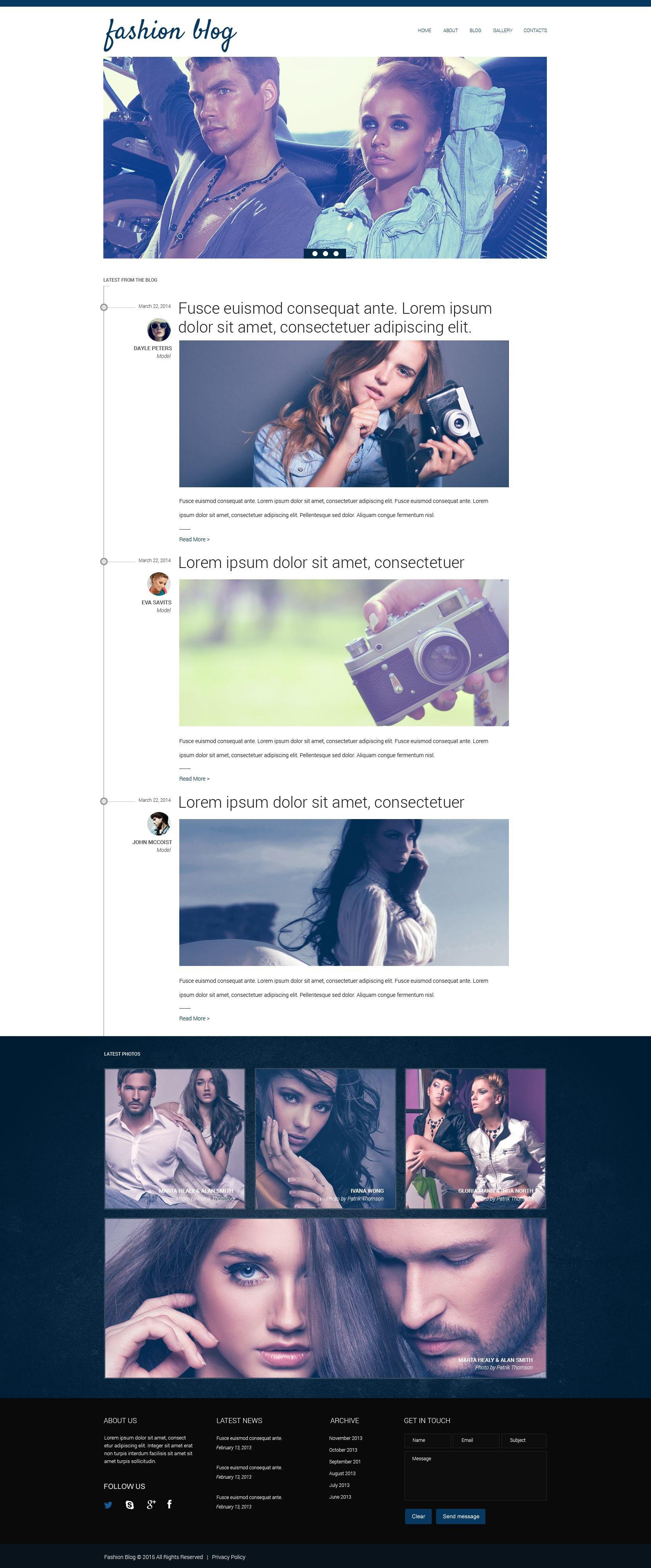 Ausgezeichnet Mode Blog Vorlage Fotos - Beispielzusammenfassung ...