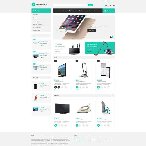 Electronics - OpenCart Template based on Bootstrap