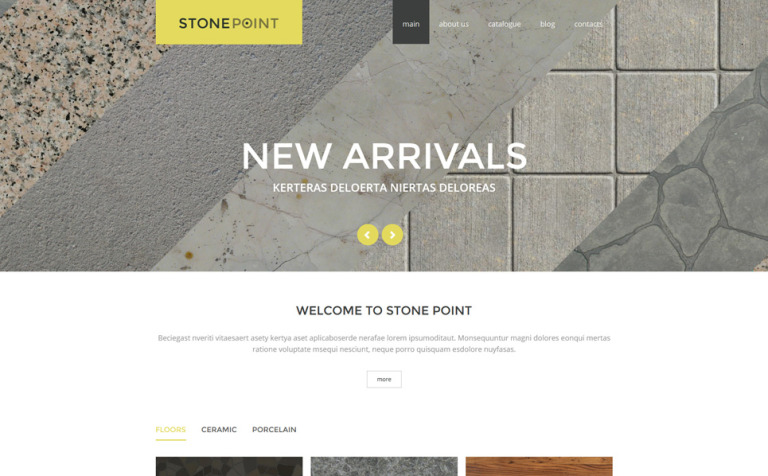 Flooring Materials Joomla Template