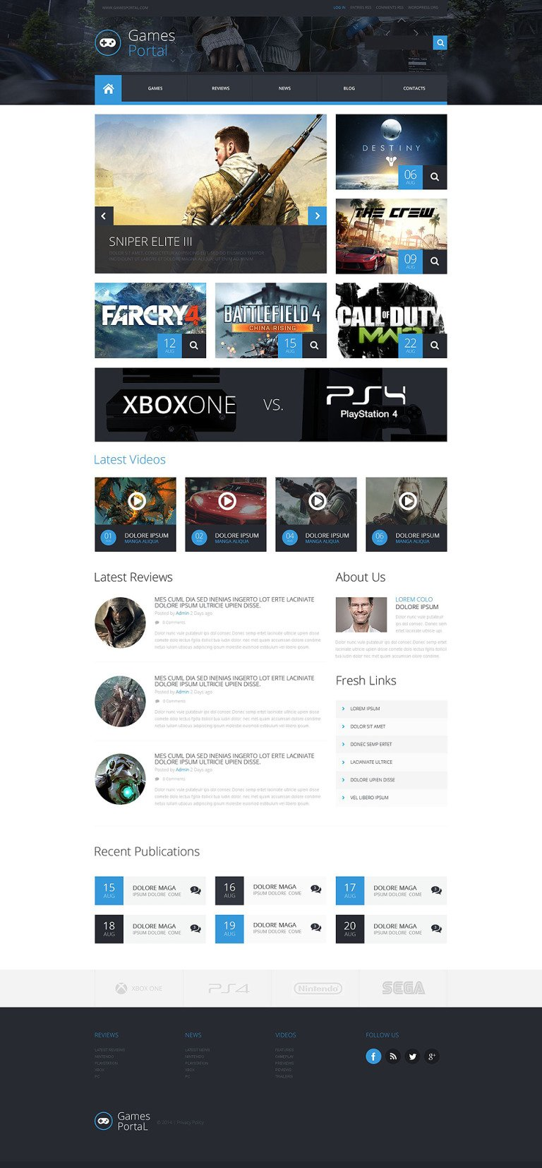 Game Portal WordPress Theme New Screenshots BIG
