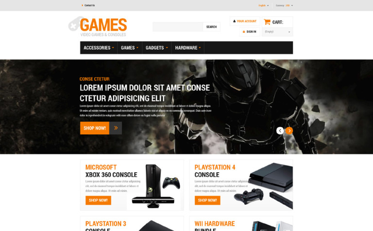 Gaming Board PrestaShop Theme