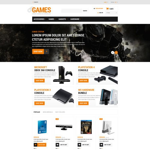 Games - PrestaShop Template based on Bootstrap