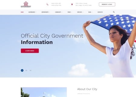 Official City Government Multipage HTML template