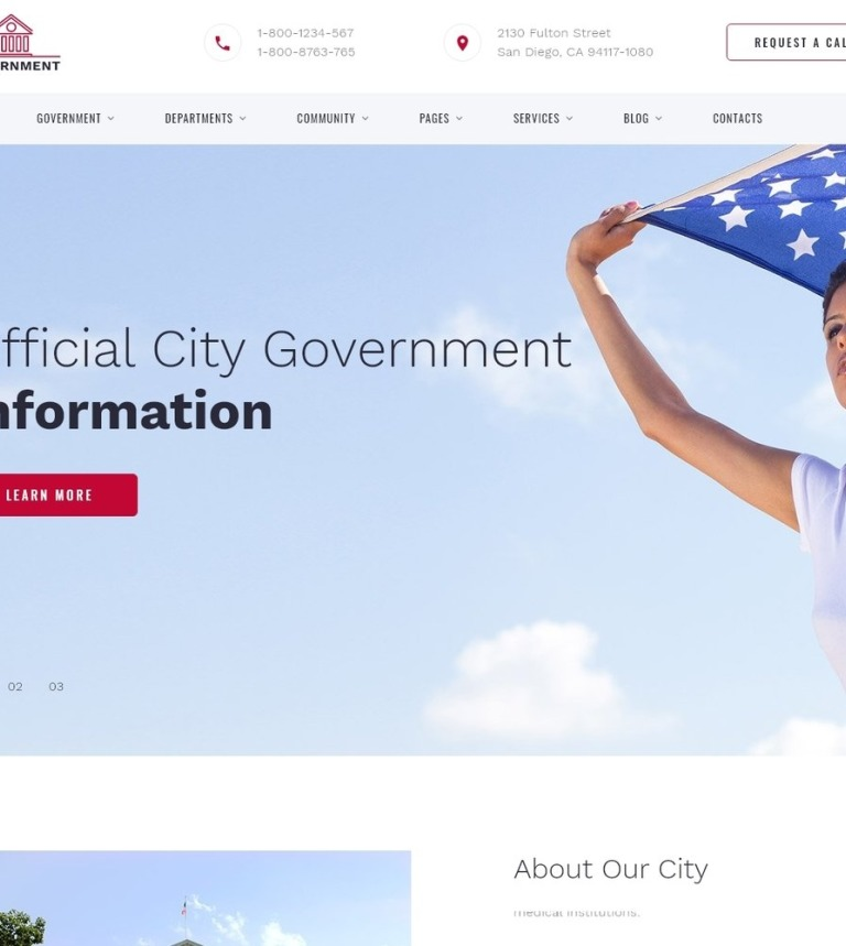 government web template.html