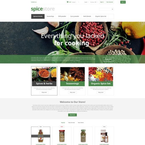 Spice Store - PrestaShop Template based on Bootstrap