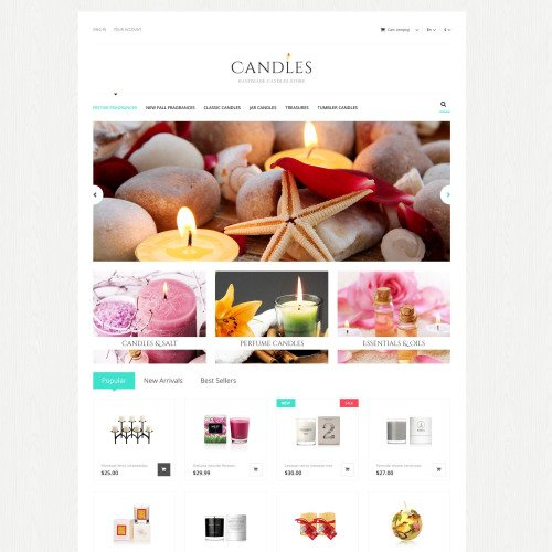 Candles - PrestaShop Template based on Bootstrap