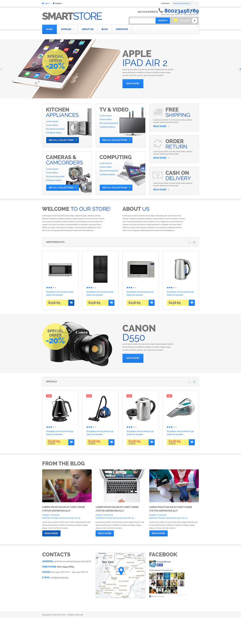 Home Electronics VirtueMart Template New Screenshots BIG