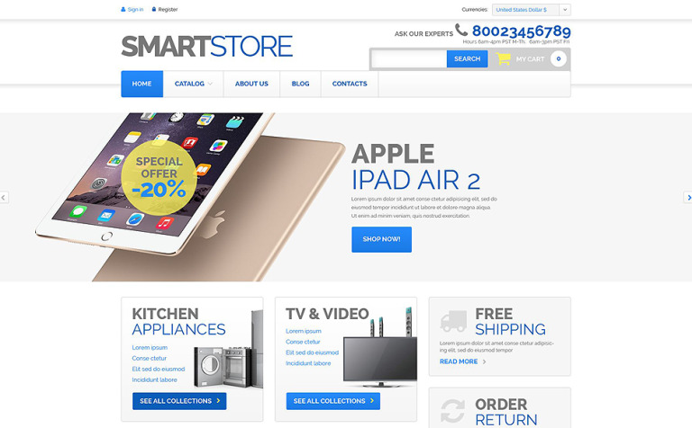 Home Electronics VirtueMart Template