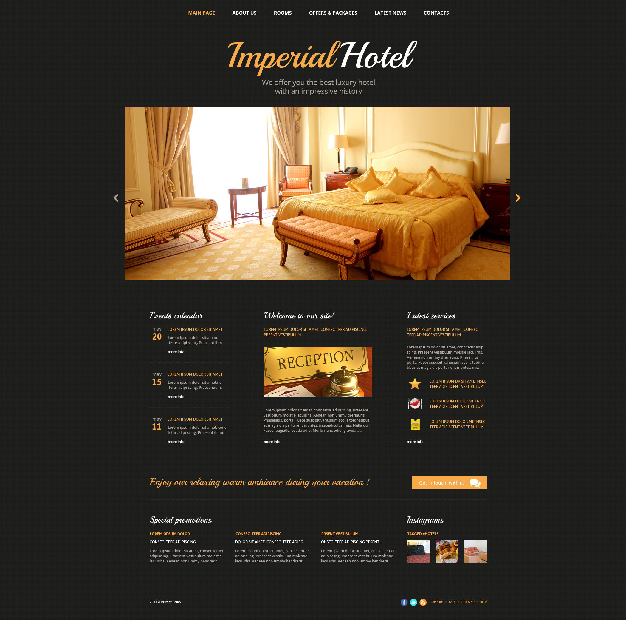Hotels Web Template