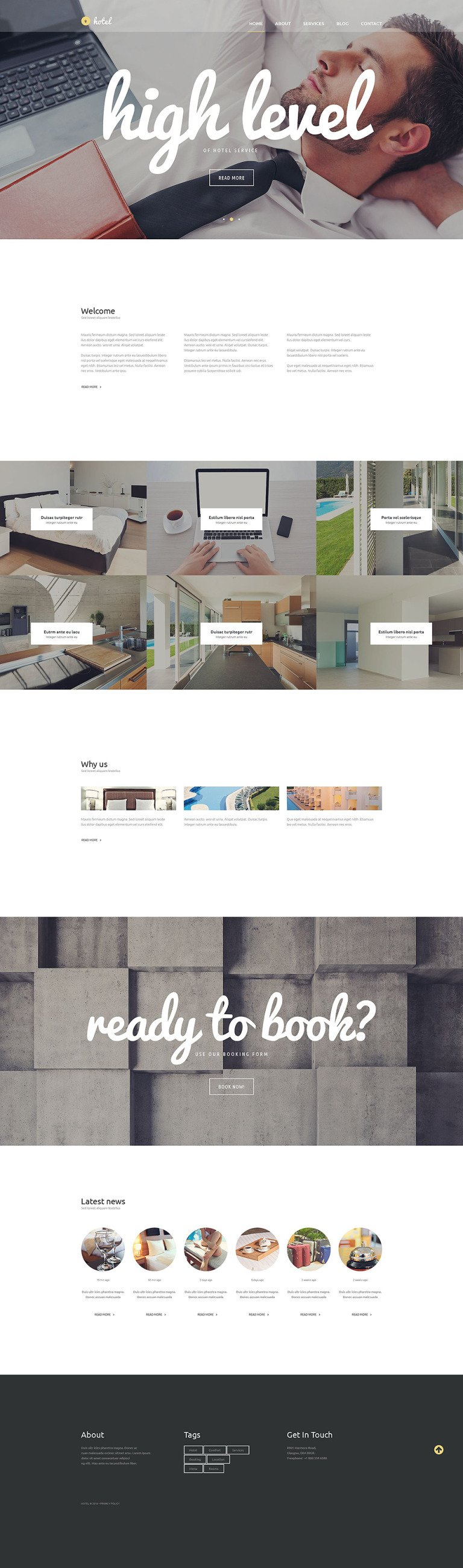 Hotel Business WordPress Theme New Screenshots BIG