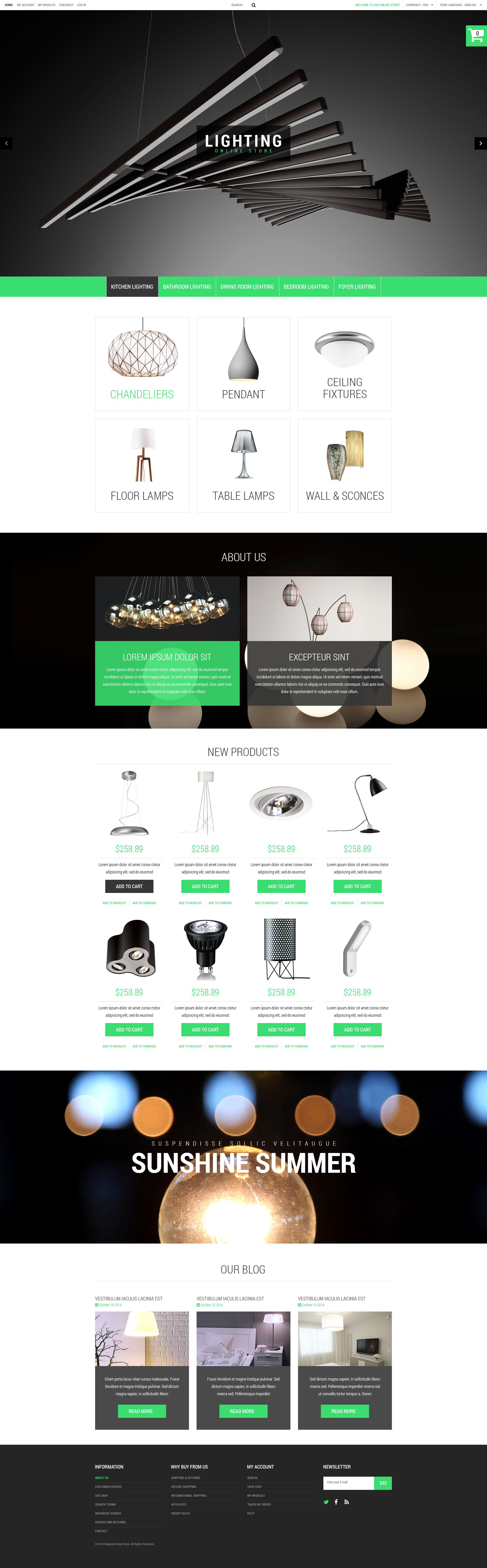 Lighting Electricity Magento Themes Templatemonster